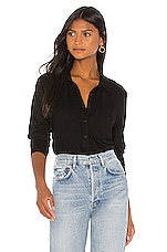 Michael Stars Harley Button Down in Black