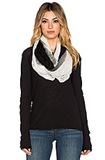 Ombre Eternity Scarf in Black