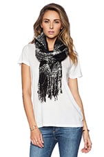 Curl Up Plaid Scarf in Black