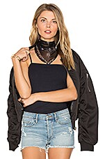 Embellished Bandit Triangle in Black