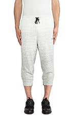 3/4 Sweat Pants in Medium Gray Heather