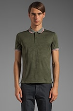 SS Jacquard Polo in Forest Night