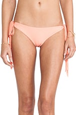 Swimwear Dreamland String Tie Bottom in Coral