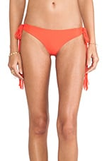 Mikoh Swimwear Dreamland Long Skinny String Tie Side Bottom in Heliconia