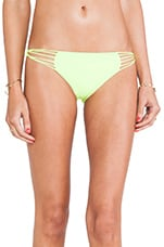 Swimwear Lanai Multi String Loop Side Bottom in Fluro