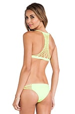 Swimwear Maui Crocheted Racerback Top in Fluro