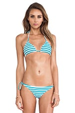 Swimwear Mundaka Basic Tie Triangle Top in Caribbean Swell