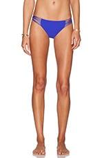 Lanai Multi String Loop Side Bikini Bottom in Electric Eel