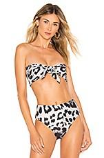 MIKOH Java Bikini Top in Safari
