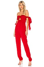 MILLY Remy Jumpsuit in Red