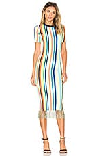 MILLY Stripe Dress in Rainbow Multi