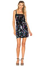 MILLY Sequin Mini Dress in Peacock
