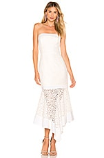 MILLY Bria Dress in White