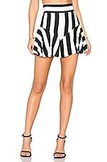 Flutter Culotte Shorts in Black & White