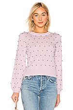 MILLY Pearl Sweater in Ballet & Lilac