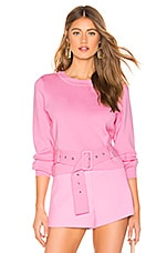 MILLY Belted Pullover in Candy Pink
