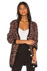 MILLY Cheetah Cardigan in Natural Multi