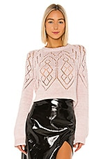 MILLY Fair Isle Pointelle Sweater in Pink