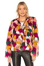 MILLY Faux Fur Jacket in Multi