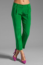 Solid Silk Nicole Pant in Kelly