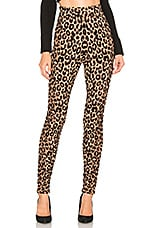 MILLY Textured Cheetah Knit Legging in Natural Multi