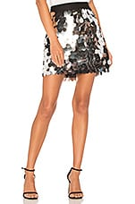 MILLY Sequin Modern Mini Skirt in Silver