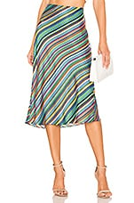 MILLY Bias Skirt in Multi