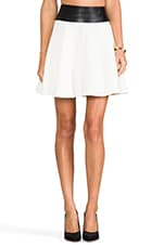 Doubleweave Twill Delphine Circle Skirt in Ivory