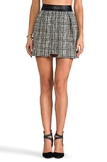 Black and White Tweed Skirt in Black