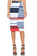 Stripe Midi Skirt in Multi
