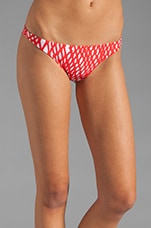 Rope Print St. Lucia Bikini Bottom in Persimmon