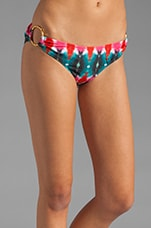 Tid Dye Print Barbados Bikini Bottom in Multi