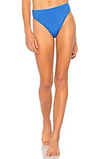 MILLY Maglificio Ripa High Waist Bikini Bottom in Ocean