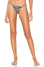MILLY Leopard Elba Bikini Bottom in Tan