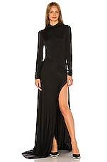 Michael Lo Sordo Empire Jersey Gown in Black