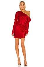 Michael Lo Sordo Cold Shoulder Mini Dress in Red
