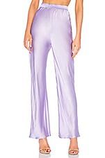 Michael Lo Sordo Bias Cut Silk Pant in Lavender