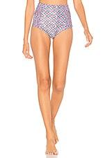Mia Marcelle Laura Bikini Bottom in Boho Tile Teal