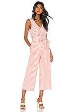 MINKPINK Check Jumpsuit in Orange & White