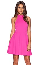 Poetic Justice Halter Dress in Magenta