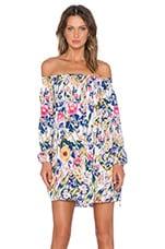 MINKPINK Smells Like Summer Off the Shoulder Mini Dress in Multi