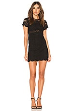 MINKPINK Tainted Love Lace Shirt Dress in Black