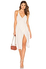 MINKPINK Sienna Wrap Dress in White