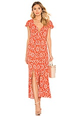 MINKPINK Delilah Maxi Dress in Grapefruit