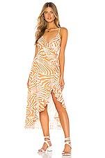 MINKPINK Pretty Wild Maxi Wrap Dress in Multi