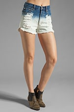 Alexa Dip Dye Denim Short in Multi