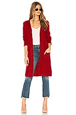 MINKPINK Firecracker Longline Cardigan in Red