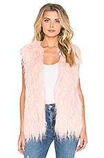 GILET EN FOURRURE PRETTY IN PINK
