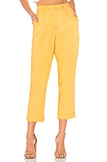 MINKPINK Tapered Pant in Golden Yellow
