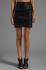 MINKPINK Naughty and Nice Faux Leather Skirt Black